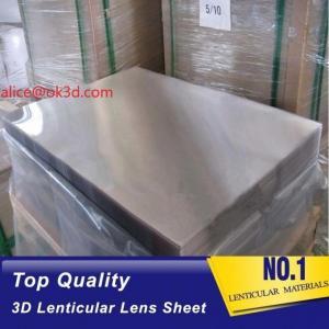 Buy cheap 3d lenticular lens sheet  70LPI PET 0.9MM 60X80CM for 3d lenticular printing by injekt print and UV offset print product