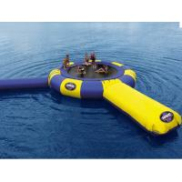 Buy cheap 0.9mm PVC Tarpaulin Trampoline Blue And Yellow Inflatable Trampoline For Sale from wholesalers