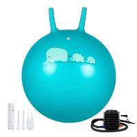 Buy cheap Kids PVC Space Hopper Ball Inflatable Toy Yoga Ball With Handle SGS Certificate product