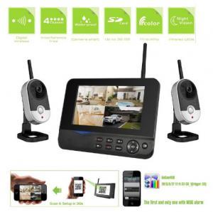 China 2.4GHz Video Surveillance Camera Systems, Remote CCTV DRV, DIY internet security camera system on sale