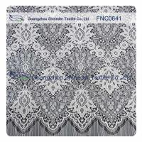 Buy cheap White Nylon Polyester Lace Fabric product