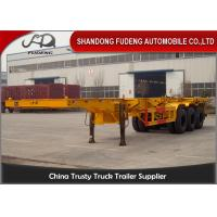 Buy cheap FUWA / BPW Axle Chassis Container Trailer 20ft 40ft Dimension 35 Tons Load product