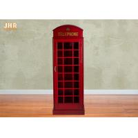 Buy cheap Telephone Booth Display Accent Cabinet MDF Wine Holder Red Color Decorative Storage Cabinets product