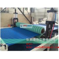 Buy cheap 400kg/h PVC Glazed Tile Roll Forming Machine / Plastic Roof Tile Extrusion Machinery 2000m/24h product