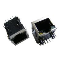 Buy cheap Latch Down RJ45 Single Port Integrated Gigabit 6μ Gold Plating For PC Applications product