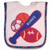 Buy cheap Baby Bib, Made of Terry and PEVA, Available in Various Designs product