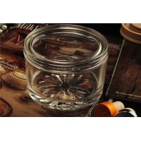 Personalised Empty Clear Glass Candle Jars With Lids , ASTM Test