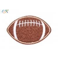 Buy cheap America Felt Fabric Embroidered Sports Patches Shape Customized With Sew On Backing product