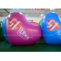 Heart Shaped Inflatable Advertising Balloons / 2.5m PVC Air Balloon Advertising