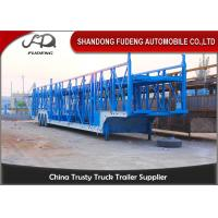 Buy cheap Steel Chassis Automatic Car Carrier Trailer Double Axles Double Floor product