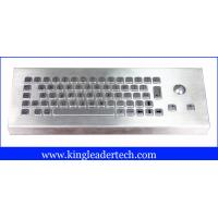 Buy quality Specially designed desktop IP68 65 keys industrial keyboard with trackball MKB-65-TB-MDT at wholesale prices