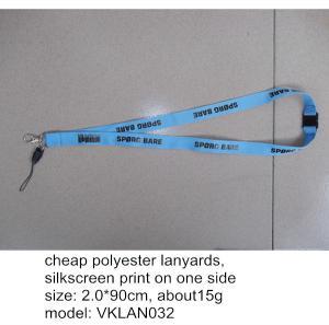Cheap flat polyester lanyard with phone string, polyester mobile phone hanging lanyards,