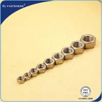 Buy cheap S304 / SS316 Carbon Steel Hex Nut Natural Color Various Sizes / Colors product