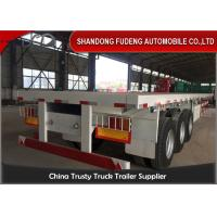 40ft 20ft 3 Axles Flatbed Container Trailer , Container Semi Trailer 60-70Tons