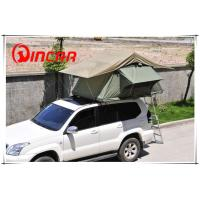 Buy quality 3 - 4 Person Canvas Sand outdoor camping Aluminum pole soft roof top campers at wholesale prices
