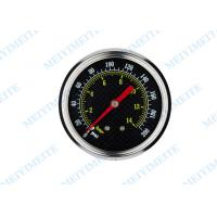 Buy cheap 63mm Back black steel case accurate tyre pressure gauge with stainless steel covering product