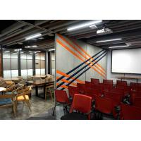 Buy cheap Melamine Vertically Folding Operable Walls 88mm Wall Thickness Hinged Panels  Aluminum Track product