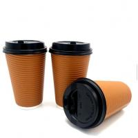 Buy cheap Top selling ripple wall disposable paper cup for hot drinking paper coffee to go from wholesalers