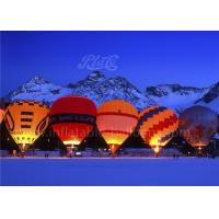 18m Hot Air Inflatable Advertising Balloons Durable Fireproof For 4 Peoples