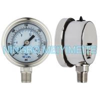 Buy cheap bayonet bezel with stianless steel inernals, sealing connection, with oil cap, fillable gauge product
