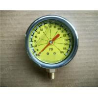"Buy cheap 2.5"" Liquid Filled Manometer , SS Pressure Gauge with 304 SS Case and Rubber from wholesalers"