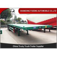 Buy cheap BPW Axle 40ft Heavy Duty Flatbed Trailer With Super Single Tire Air Suspension product