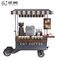 Buy cheap Load 400KG Steel Frame Coffee Bike Cart 3CBM With Waterproof Awning product