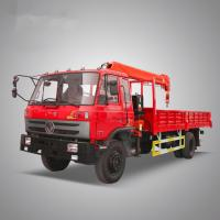 Buy cheap Factory Direct Supply Dongfeng 4X2 Truck Mounted Crane 8 Ton Straight Boom Flatbed Truck Crane product