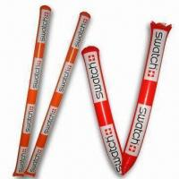 Buy cheap Inflatable Stick in Various Specifications, Made of PE, Customized Logos and Sizes are Welcome product