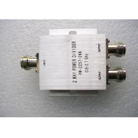 Buy cheap 350 - 500MHz UHF Power Splitter , Silver Color 2 Way Power Divider product
