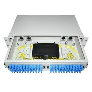 Buy cheap 24 48 96 Ports Dustproof LC SC 19' Rack Mount Fiber Terminal Box Enclosure Fiber Distribution Patch Panel from wholesalers