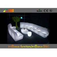 Buy quality Outdoor Exhibition Furniture with glass Built-in rechargeable battery and RGB light at wholesale prices