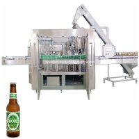 Buy cheap Rinser Filler Cacpper 1000bph Glass Milk Bottle Soda Filling Machine product