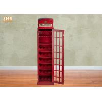 Buy cheap Indoor Decor Wooden Telephone Booth Wine Bottle Rack product