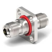 Buy cheap Small RF Coaxial Connector 50GHz 2.4mm Male To 2.4mm Female Adapter 4 Hole Flange product