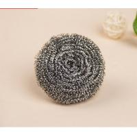 Spiral Shape Scourer Stainless Steel , Heavy Duty Metal Scrub For Dishes