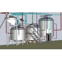 Buy cheap Electrical / Steam Mini Microbrewery Equipment , 3 Phase Brewpub Equipment product