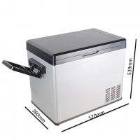 Buy cheap Silver And Black Car Refrigerator Cooler , 50L Mini Fridge Ac Dc Travel Cooler product