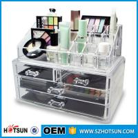 Buy cheap Acrylic Cosmetic Storage Display Boxes, Wholesales cosmetic organizer with drawers,hot sales acrylic makeup organizer product