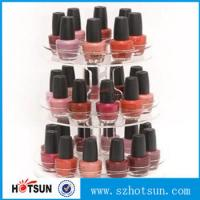 Buy cheap 3 tiered round rotating acrylic nail polish display stand in cheap price product
