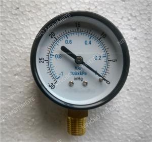 Buy cheap 2.5 To EN 837-1 2 Inch Digital Vacuum Pressure Gauge With Steel Black Material Case product