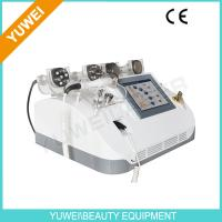 Buy quality 7 In 1 RF vacuum cavitation Weight loss equipment slimming machine Red Blue Diode laser at wholesale prices