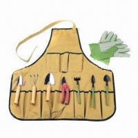 Buy cheap Garden Tool Set with Apron, Customized Logos and Colors are Welcome product
