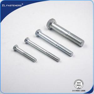 Buy cheap Bright Zinc / Yellow Zinc Steel Hex Bolt Grade 4.8 Plain Finish M6~M64 product