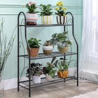 Buy cheap H257 Flower Pot Metal Display Shelf Sturdy Metal Construction Black Paint Plated product