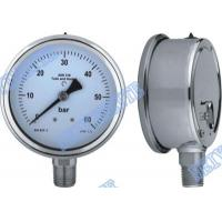 Buy cheap 4 Inch tube bottomgauge stainless steel pressure gauge 304 roll ring type product