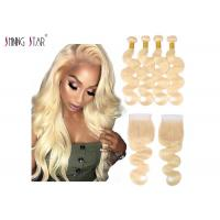 Buy cheap Brazilian Hair Body Wave 613 Bundles With Closure Honey Blonde Human Hair from wholesalers