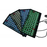 Buy cheap IP68 Fully - Sealed Silicone Keyboard Mini Size USB Interface With Illuminated from wholesalers