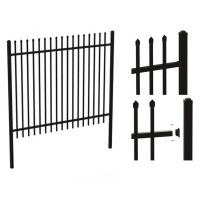 Buy cheap Backyard Powder Coated Wrought Steel Picket Fence product