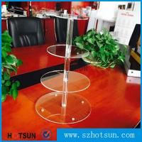 Buy cheap Customized modern style 4 tier round plexiglass cake stand,acrylic cupcake stand wholesale from China product